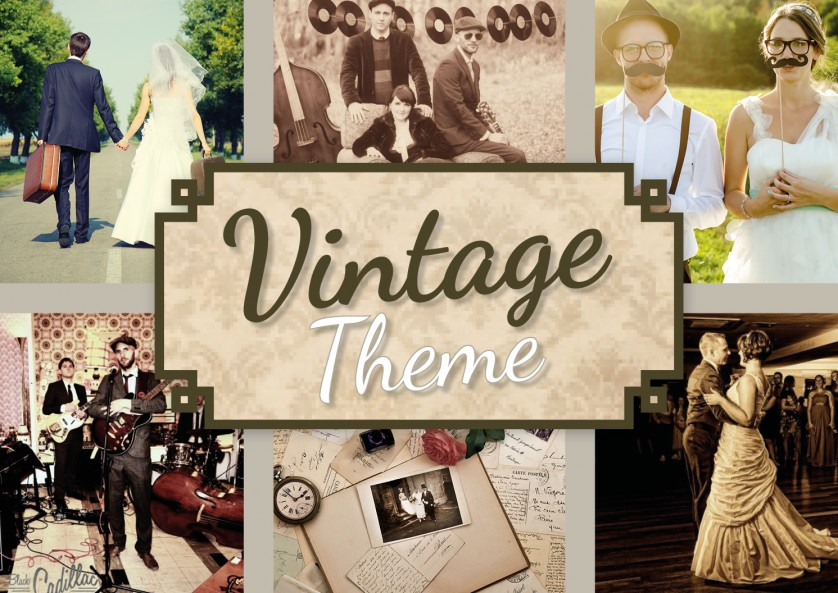 Entertainment and music for a vintage theme wedding vintage junglespirit Images